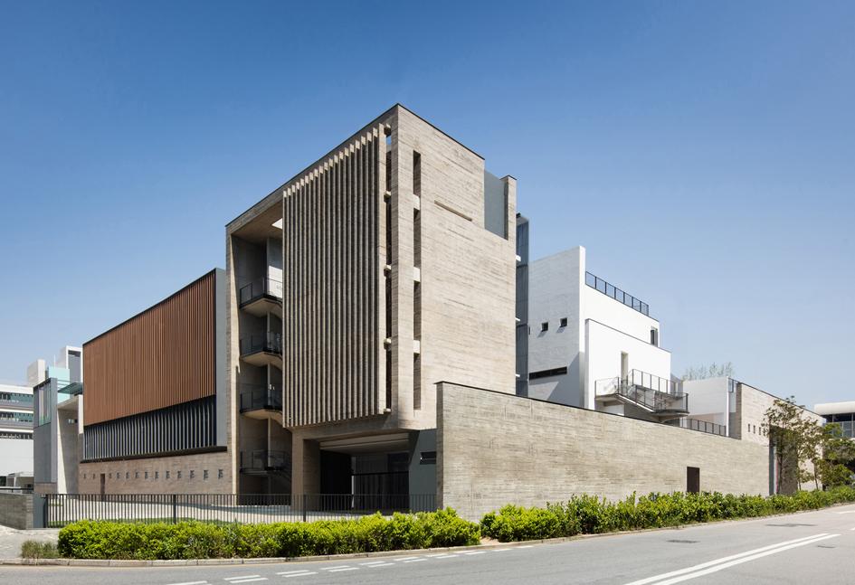 School Building Elevations : Architectural services department exhibition